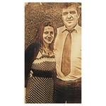 gravírozott kép családi fotó alapján