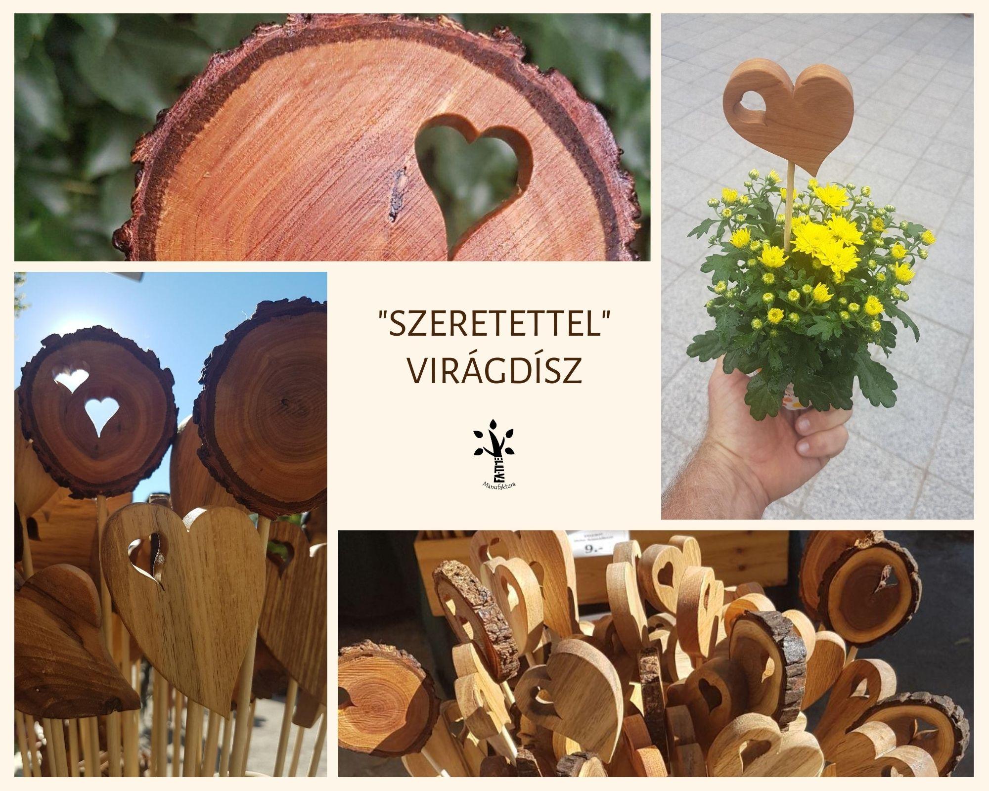 Blog 8. Asztali virágdísz fából